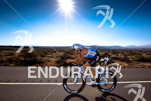 2010 Kona Ford Ironman World Championships Eneko Llanos 14 ESP rides his BH on the Queen K Larry Rosa Spiuk avia hed