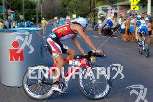 Larry Rosa Luke Bell 33 AUS at bike turn around Zipp argon 18 giro powerbar race2010 Kona Ford Ironman World Championships zoot
