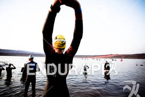 Pre race stretch at the 2011 Ford Ironman, St. George Utah