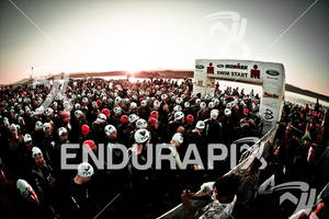 Athletes line up for swim start at the 2011 Ford Ironman, St. George Utah