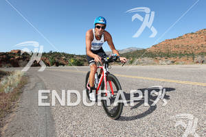 Christian Brader on Look bike at the 2011 Ford Ironman, St. George Utah