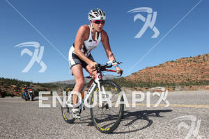 Jodie Swallo (GBR) on bike at the 2011 Ford Ironman, St. George Utah