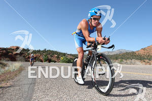 Christian Brader (DEU) on bike at the 2011 Ford Ironman, St. George Utah