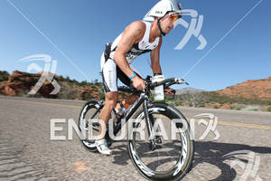 Jeff Paul (USA) on bike at the 2011 Ford Ironman, St. George Utah