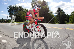Ian Mikelson on bike at the 2011 Ford Ironman Lake Placid