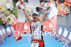 Andreas Boecherer (GER) wins at the Sparkassen Finanzgruppe IRONMAN 70.3 European Championship in Wiesbaden, Germany August 14, 2011