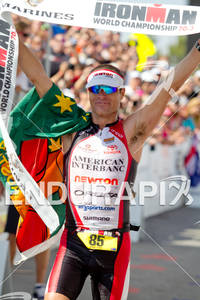 Craig Alexander (AUS) wins the Ironman World Championship 70.3 in Las Vegas, NV. September 11, 2011