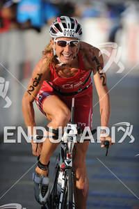 Chrissie Wellinton competing in the bike portion of the 2011 Ford Ironman World Championship in Kailua-Kona, HI, October 8 2011