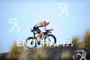 Timo Bracht competing in the bike portion of the 2011 Ford Ironman World Championship in Kailua-Kona, HI, October 8 2011