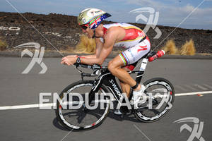 Craig Alexander competing in the bike portion of the 2011 Ford Ironman World Championship in Kailua-Kona, HI, October 8 2011