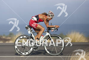 Chrissie Wellington (GBR) rides on the Queen K Highway during the 2011 Ford Ironman World Championships