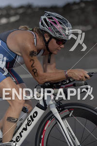 Mary Beth Ellis (USA) rides on the Queen K Highway during the 2011 Ford Ironman World Championship