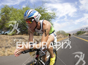 Frederick Van Lierde (BEL) rides on the Queen K Highway during the 2011 Ford Ironman World Championship