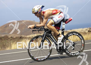 Craig Alexander (AUS) rides on the Queen K Highway during the 2011 Ford Ironman World Championship