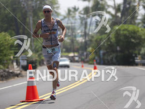 Andreas Raelert (DEU) runs on Alii Drive during the 2011 Ford Ironman World Championship