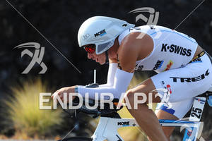 Chris Lieto competing in the bike portion of the 2011 Ford Ironman World Championship in Kailua-Kona. HI, October 8 2011