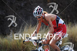 Chrissie Wellington competing in the bike portion of the 2011 Ford Ironman World Championship in Kailua-Kona. HI, October 8 2011
