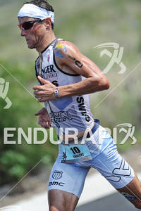 Andreas Raelert competing in the run portion of the 2011 Ford Ironman World Championship in Kailua-Kona. HI, October 8 2011