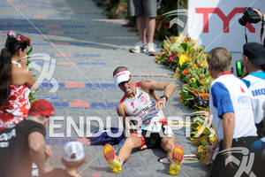 Craig Alexander wins the 2011 Ford Ironman World Championship in Kailua-Kona, HI, October 8 2011