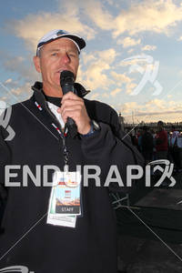 World famous Mike Reilly gets everyone ready for the 2011 Ford Ironman Arizona