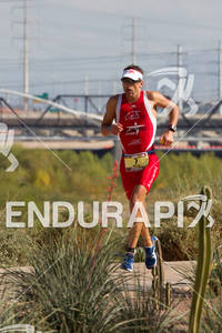 Cristophe Bastie (FRA) on run at the 2011 Ford Ironman Arizona