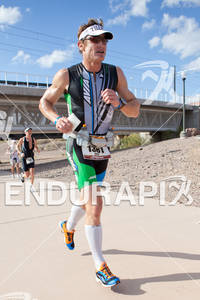 Eric Byrnes (USA) puts down the baseball gear and races the 2011 Ford Ironman Arizona