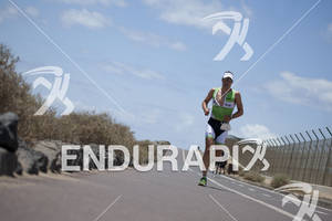 Bert Jammaer on the Run portion of the 2012 Ironman Lanzarote May 19, 2012 in Canary Islands,Spain