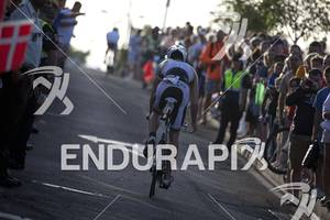Simon Billeau  on the Bike portion of the 2012 Ironman Lanzarote May 19, 2012 in Canary Islands,Spain