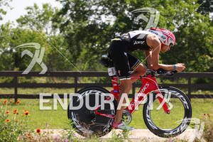Jordan Rapp on bike at the Ironman Texas on May 19, 2012 in The Woodlands, TX