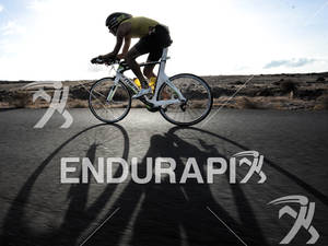 Remy Vasseur on the bike portion of the 2012 Ironman Lanzarote May 19, 2012 in Canary Islands, Spain