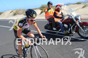 Bella Bayliss on the bike portion of the 2012 Ironman Lanzarote May 19, 2012 in Canary Islands, Spain
