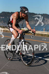 Andy Potts bikes back to transition at the 2012 Escape from Alcatraz Triathlon on June 10, 2012 in San Francisco, CA