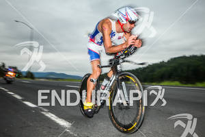 Tim ODonnell on bike at the Ironman Coeur d' Alene on June 24, 2012 in Coeur d Alene, ID