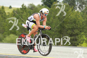 Ian Mikelson on bik at the Ironman Coeur d' Alene on June 24, 2012 in Coeur d Alene, ID