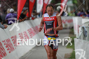 Viktor Zyemtsev checks his Timex watch at the Ironman Coeur d' Alene on June 24, 2012 in Coeur d Alene, ID