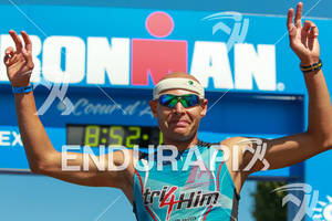 Matthew Russle finishes thrid at the Ironman Coeur d' Alene on June 24, 2012 in Coeur d Alene, ID
