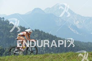 Faris Al-Sultan on the bike at the Ironman Austria on July 01, 2012 in Klagenfurt, Austria.