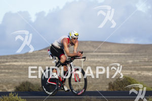Ruedi Wild , on the bike portion of the Ironman 70.3 Lanzarote in Canary Islands, Spain on October 5, 2013.