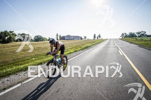Reeven Nathan riding the country roads at the Ironman 70.3 Racine, in Racine, Wisconsin on July 15, 2012