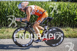 Patrick Evoe riding his Felt DA strong at the Ironman 70.3 Racine, in Racine, Wisconsin on July 15, 2012