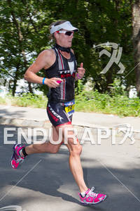 REBEKAH KEAT on run at the 2012 Ironman U.S. Championships on August 11, in NY, New York.