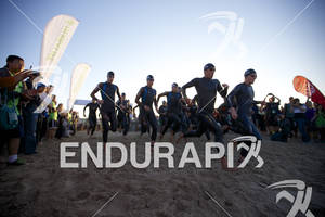The pro division starts at the 2012 Los Angeles Triathlon in Venice Beach, CA on September 30, 2012.
