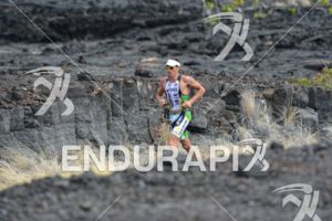 Pete Jacobs in the Natural Energy Lab in the lead at the Ironman World Championship in Kailua-Kona, Hawaii on October 13, 2012
