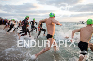 Race start at the 2575 Triathlon Miami in  Fort Lauderdale, FL on March 17, 2013.