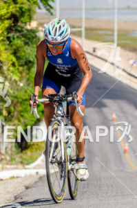 Flavia Fernandes face a huge climb at  at 2013 Joao Pessoa ITU Triathlon Premium Pan American Cup in Joao Pessoa, Brazil on April 7th, 2013.