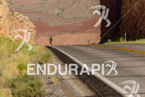 Riding thru the Monument Valley (Navajo Historical Park) in Utah  at the 2013 Race Across America, on June 17, 2013.