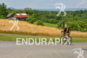 Uphill in West Virginia countryland at the 2013 Race Across America, on June 22, 2013.
