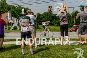 People in Maryland cheering the rider  at the 2013 Race Across America, on June 19, 2013.