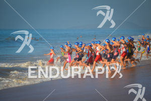 Junior female start at 2013 Vila Velha ITU Triathlon Pan American Cup