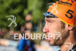 Jérémy Jurkievicz before the 2014 Ironman 70.3 Pays d'Aix, Aix en Provence on May 18, 2013. Jeremy will take the 2nd place.